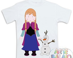 Camiseta Anna e Olaf! Estampa Exclusiva!
