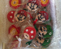Biscoito decorado Mario Bros!!