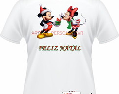 Camiseta Adulto Minnie e Mickey.