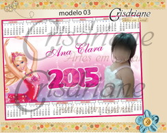 Calendario Imã Barbie