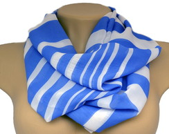 Infinity Scarf BLue Stripes