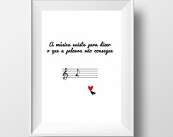 Poster Decorativo Tema Musical