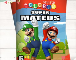 Revista Colorir Super Mario Bros