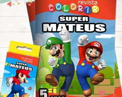 Kit Revista + Giz Super Mario Bros