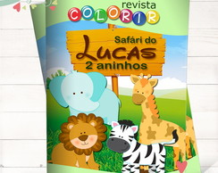 Revista Colorir Safári