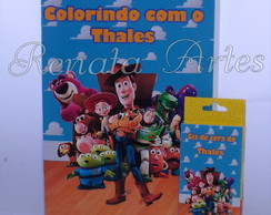 Revista para colorir com giz toy story