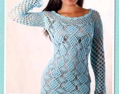 037d9b32f Vestido curto e manga longa em crochet no Elo7 | GUAPA ARTEIRA (4ABF15)