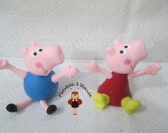 LEMBRANCINHA PEPPA E GEORGE PIG BISCUIT