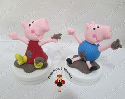 LATINHA DECORADA PEPPA E GEORGE PIG