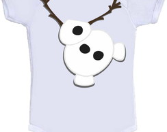 Body ou Camisetinha Divertida Olaf