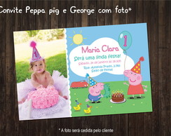 Peppa e George Convite digital Foto