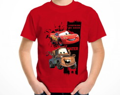 Camiseta colorida carros o filme