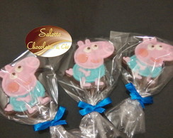 Pirulito de chocolate George Pig