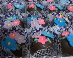 mini trufas chocolate ao leite