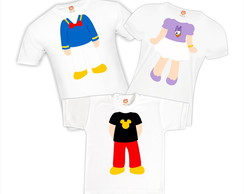 Kit Camisetas Disney (Mickey ou Minnie)