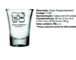 copo shot tequila 60ml personalizados