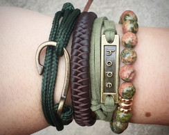 kit Pulseiras Green Day