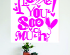 Adesivo Decorativo 114 I Love You