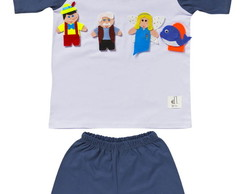 Pijama com Dedoches do Pinóquio