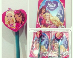 Kit bloquinho com ponteira Barbie