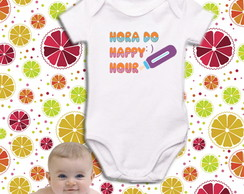 Body OU Camiseta Happy Hour - Algodão