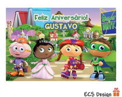 Super Why Painel Parede Digital / Im