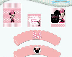 Kit Festa Infantil Minnie Rosa