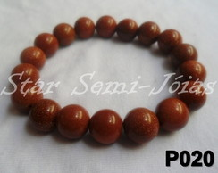 Pulseira de Pedra do Sol Goldstone