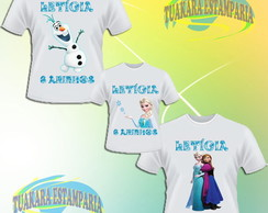 Kit 3 Camisetas - Frozen