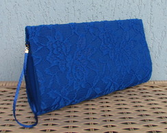 Clutch Renda Azul Royal
