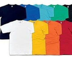 Camiseta poliester lisa coloridas