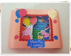 Convite Poup Up Peppa Pig