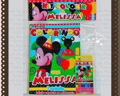 Revista kit de colorir Mickey Mouse