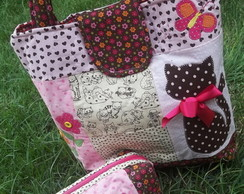Kit Bolsa + estojo Love Cat
