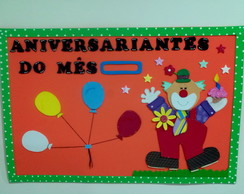 PLACA ANIVERSARIANTE DO MES