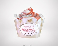 Wrapper (saia) Cupcake Princesa