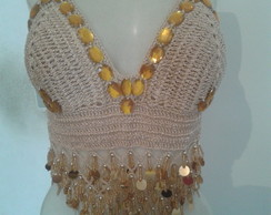 TOP DE CROCHE BORDADO