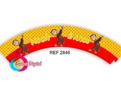 Wrapper p/ Cupcake Curious George