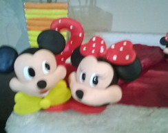 vela do mickey e minnie de biscuit