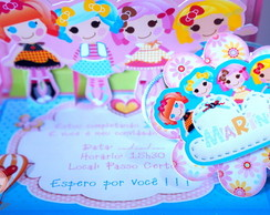 Convite PopUp 3D Lalaloopsy