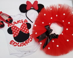 Kit Festa fantasia Minnie Vermelha 2