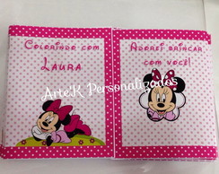 Revistinha Colorir Minnie Rosa
