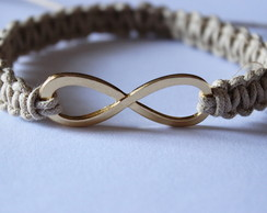 Pulseira We are Infinite Bege