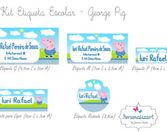 Kit Etiqueta Escolar - GEORGE PIG