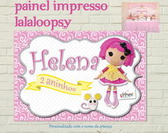 LALALOOPSY Painel IMPRESSO Luxo Rosa