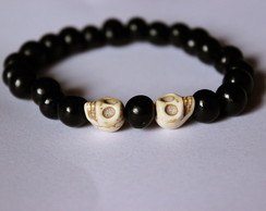 Pulseira Black and Skull I