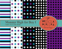 Papel Digital Monster High for Boy I