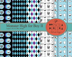 Papel Digital Monster High for Boy II
