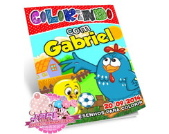 Kit Colorir Galinha Pint.+ Giz de Cera