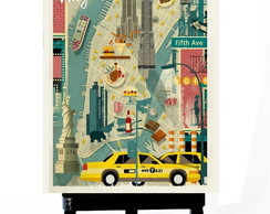 * MINI POSTER - NEW YORK - POP ART